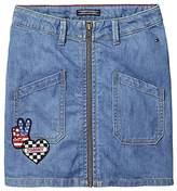 Tommy Hilfiger TH Kids Heart Tommy Denim Skirt