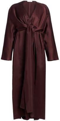 The Row Clementine Satin Tie-Front Dress