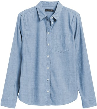 Banana Republic Petite Quinn Straight-Fit Denim Shirt