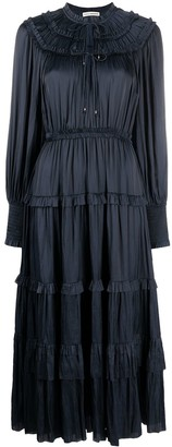 Ulla Johnson Ruffle-Detailed Long-Sleeved Midi Dress
