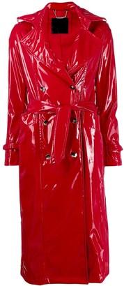 Philipp Plein Cowboy shiny trench coat