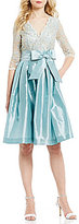 Jessica Howard Surplice V-Neck Lace Party Dress