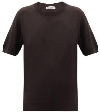Connolly - Cashmere-blend Short-sleeved Sweater - Dark Brown