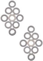 Lagos Sterling Silver Diamond Circle Drop Earrings - 0.16 ctw