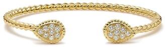 Boucheron 18kt yellow gold Serpent Boheme 2 S motifs WG diamond cuff