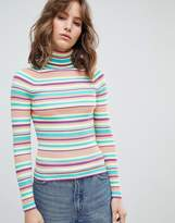 E.L.K Fitted Turtleneck Sweater In Stripe