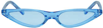 Cat Eye George Keburia Blue Micro Cat-Eye Sunglasses
