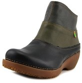 El Naturalista Tricot Round Toe Leather Bootie.