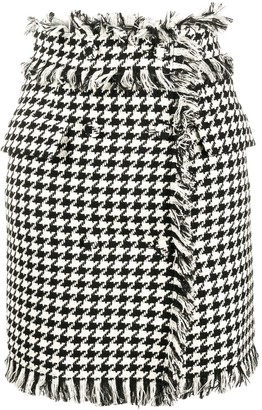 MSGM houndstooth print mini skirt