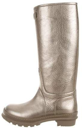 Brunello Cucinelli Metallic Leather Boots w/ Tags
