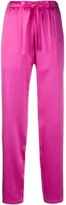 Undercover Drawstring-Waist Silk Trousers