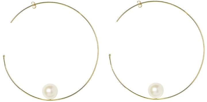 Sweet Pea Large Pearl Hoop Earrings