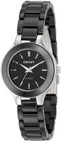 DKNY Chambers Small Black Round Ceramic Watch