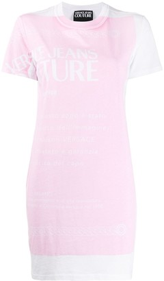 Versace fitted logo print T-shirt dress