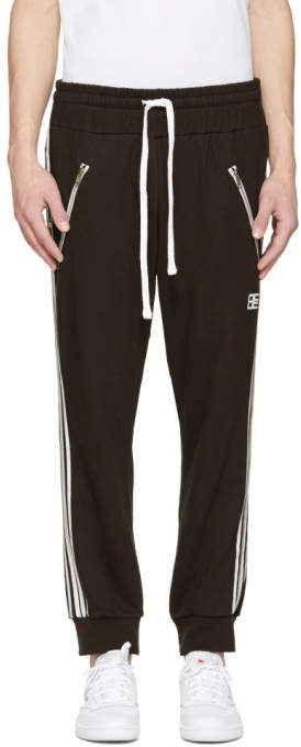 Baja East Black Logo Moto Lounge Pants