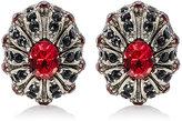 Alexander McQueen Men's Crystal-Embellished Oval Cufflinks