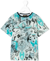Roberto Cavalli nautical print t-shirt - kids - Cotton/Elastodiene - 10 yrs