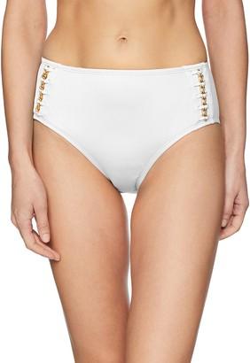 Kenneth Cole New York Women's Mid Waist Hipster Bikini Swimsuit Bottom