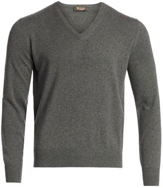 Loro Piana Scollo Cashmere V-Neck Sweater