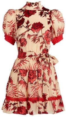 Alice + Olivia Alice+Olivia Regan Tiered Midi Dress
