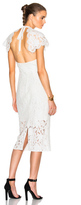 Lover Affinity Midi Dress in White.