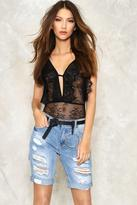 Nasty Gal nastygal Itâ€TMs All in Your Shred Distressed Shorts