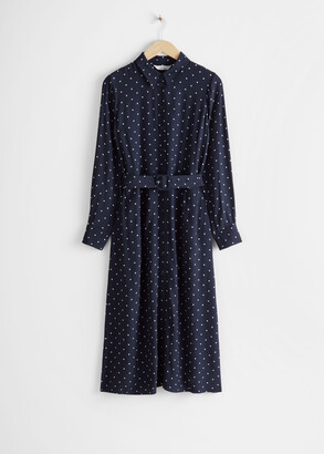And other stories Belted Midi Dress