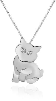 Forzieri Diamond & 18K Gold Cat Pendant Necklace