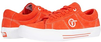 Vans Saddle Sid Pro (Tomato/White) Athletic Shoes
