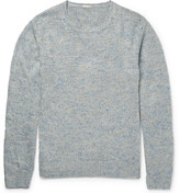 Massimo Alba J. Pierre Mélange Linen and Silk-Blend Sweater