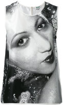 Kenzo classic print tank top - women - Silk - 36