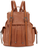 Cynthia Rowley Kyle Faux-Leather Flap Backpack, Nutmeg