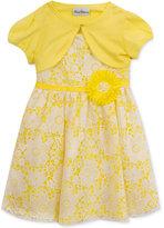 Rare Editions 2-Pc. Cardigan & Lace Dress Set, Big Girls (7-16)