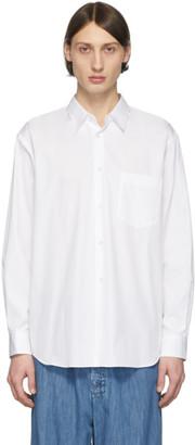 Comme des Garcons White Poplin Shirt