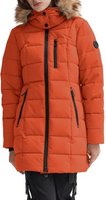 Noize Parka with Removable Hood and Faux Fur Trim