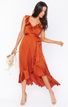 Show Me Your Mumu Samantha Ruffle Wrap Dress