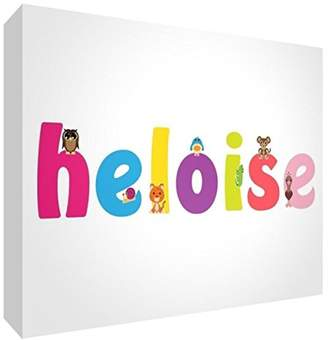 clear Little Helper Souvenir Decorative Polished Acrylic Diamond Style Colour Example with Girl's Name Heloise 14.8 x 21 x 2 cm Large