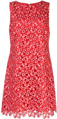 Alice + Olivia Floral Applique Mini Dress