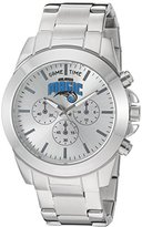Game Time Women's 'Knock-Out' Quartz Stainless Steel Automatic Watch, Color:Silver-Toned (Model: NBA-TBY-ORL)