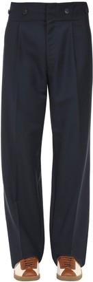 Lanvin High Waist Loose Wool & Mohair Pants