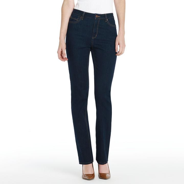 "Jones New York The Straight Leg Jean with 32.5"" Inseam (Petite)"