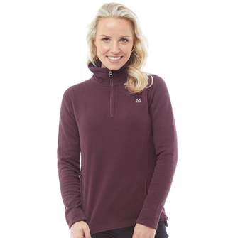 Crew Clothing Womens 1/2 Zip Solid Sweatshirt Berry