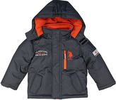 U.S. Polo Assn. Charcoal & Orange Puffer Coat - Boys