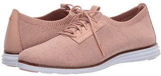 Cole Haan Originalgrand Stitchlite Plain Oxford (Mahogany Rose Metallic Knit/Mahogany Rose Leather/Optic White) Women's Slip on Shoes