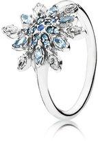 Pandora Crystallized Snowflake Ring 190969nblmx-54 Size 7