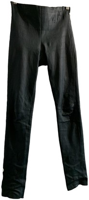 Louis Vuitton Green Leather Trousers