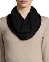 Portolano Merino Wool Infinity Scarf, Black
