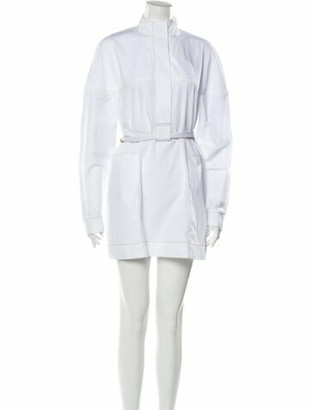 Rosetta Getty Mock Neck Mini Dress w/ Tags White