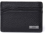 Hugo Element Black Leather Card Case