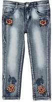 Haus of JR Flower-Embroidered Jeans